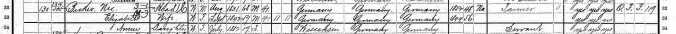BECKER, N and family, Ozaukee 1900 census detail 1
