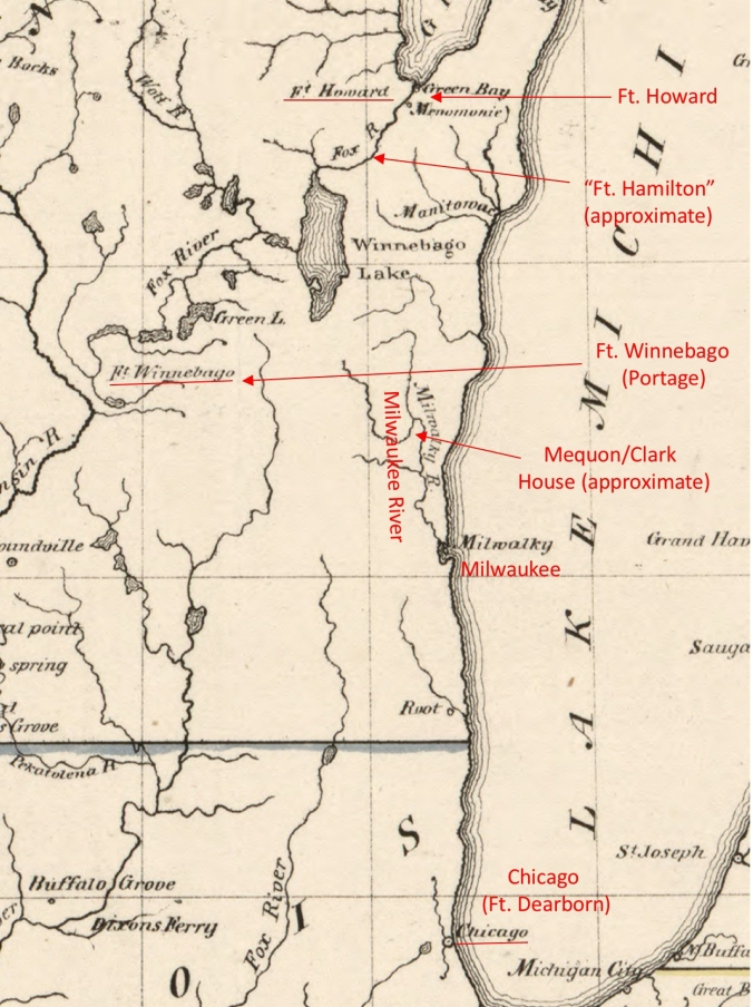 Map of…Ouisconsin 1836 (detail with notes)