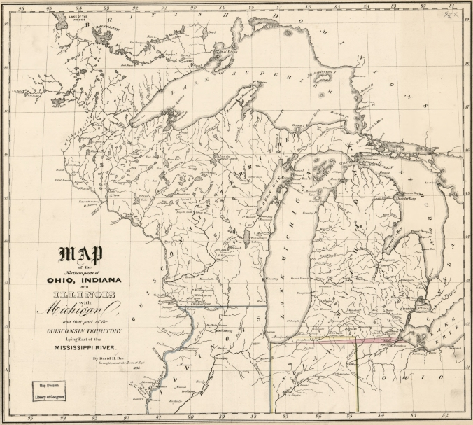 MAP-Wisconsin, Illinois, Michigan 1836