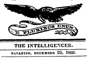 Navarino Intelligencer masthead 25 Dec 1833