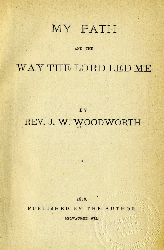 Woodworth My Path title page